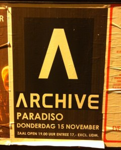Archive in Amsterdam – Trip Rock im Paradiso